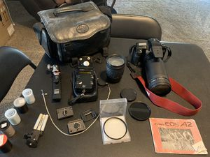 CANON(kind of vintage) EOS A2 CAMERA AND ACCESSORIES for Sale in Tracy, CA
