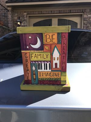 Large Wooden Hand Painted Decorative Box for Sale in Atlanta, GA