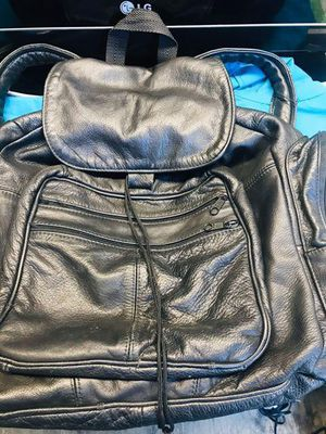 Black leather backpack for Sale in Long Beach, CA
