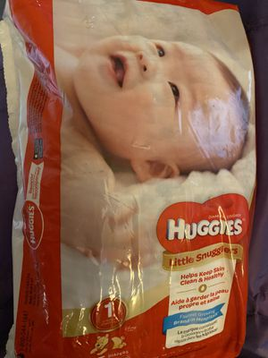 Huggies Diapers size one for Sale in Mount Prospect, IL