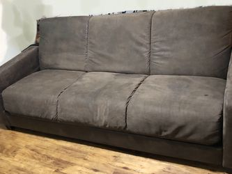 Brown Suede Leather Sofa/Bed for Sale in Austin,  TX