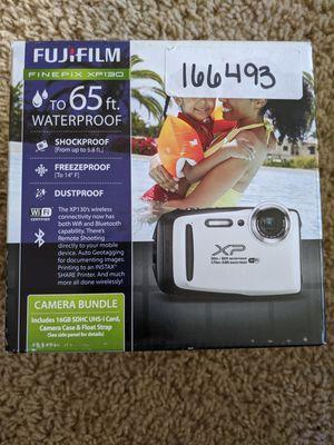Fujifilm XP130 16.4MP 5x Zoom Waterproof Bluetooth Digital Camera Bundle with 16GB SD Card, Strap, Case - White for Sale in Modesto, CA