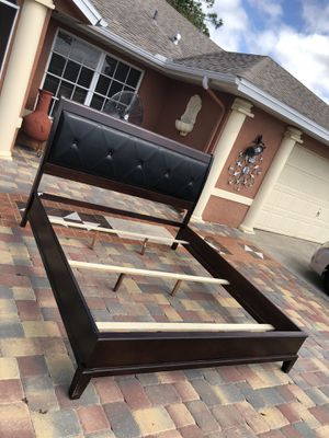 King size bed frame only for Sale in Fort Myers, FL