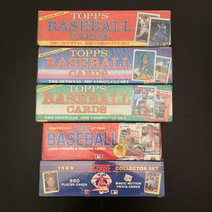 Factory Sealed Baseball Card Sets 1988-1990 for Sale in Clackamas, OR