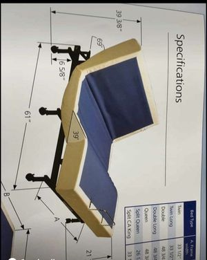 Tempur-pedic queen bed base for Sale in Painesville, OH
