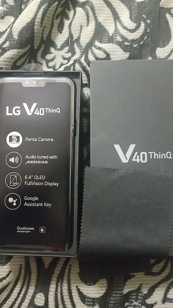 LG V40 ThinQ 64gb black. Unlocked Brand new never opened still n box. Everything with it. NEW. NEW NEW