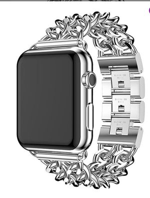 Silver metallic Apple Watch band and case for Sale in Clovis, CA