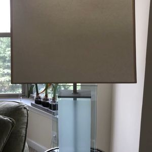 Glass contemporary table lamp for Sale in Brookeville, MD