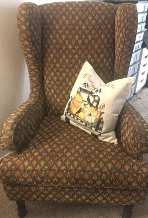 Wingback chair (pillow not for sale) for Sale in Tulare, CA