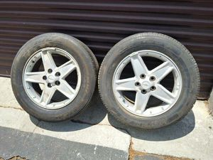 two stock 17 inch chevy malibu rims, 5 on 115mm, fits other cars for Sale in Montebello, CA