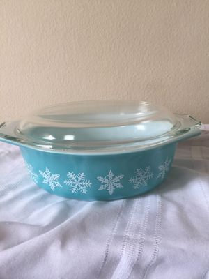 Pyrex Blue Snowflake Casserole Dish for Sale in San Francisco, CA