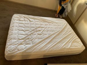 "Slumber 1 8"" mattress with wooden bed frame for Sale in Bentonville, AR"