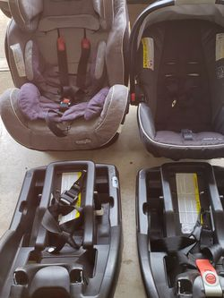 Infant car seat and regular car seat for Sale in Sugar Land,  TX