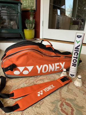 Yonex Badminton Tennis Racquet Bag - bonus shuttlecocks for Sale in Kirkland, WA