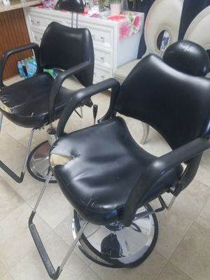 2 salon chairs for 150 adjustable for Sale in Memphis, TN
