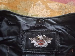 Genuine Harley Davidson leather vest for Sale in Naperville, IL