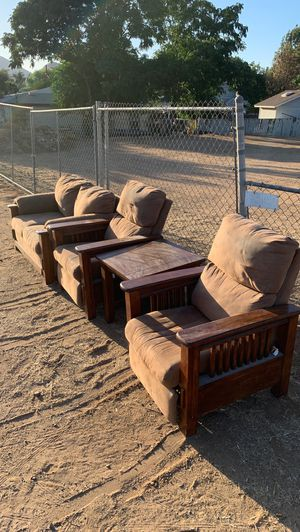 FREE love seat and recliners with matching end table for Sale in Riverside, CA