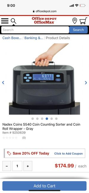 Nadex s540 coin counter for Sale in South Miami, FL