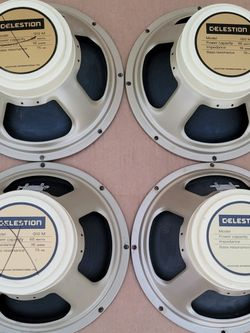 G12M-65 Creamback 16ohm Guitar Speakers By Celestion - Used But In Proper Working Order for Sale in Norwalk,  CA