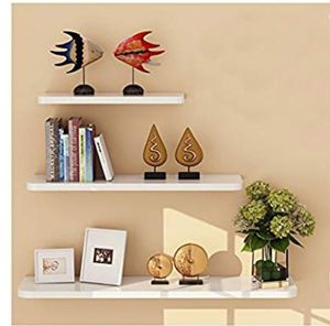 WUDENHOM White Floating Wall Shelve, Floating Wall Ledge Set of 3 Display Modern (12,16,20inch Long) for Sale in Bakersfield, CA