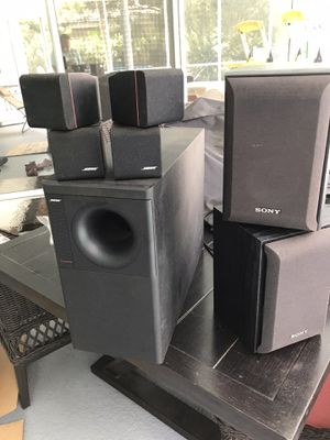BOSE speaker system set, 2 Sony speakers, power amp for Sale in Tampa, FL