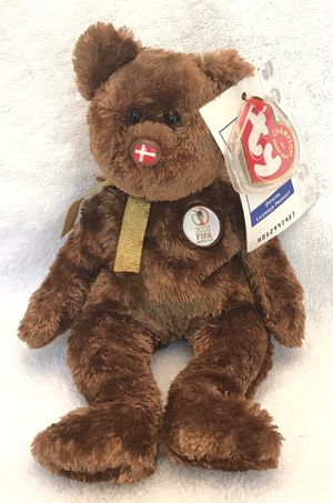 2002 FIFA ty beanie baby Denmark 🇩🇰 soccer ⚽️ bear 🐻 for Sale in Roswell, GA