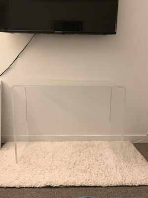 Clear Acrylic Console Table for Sale in Brooklyn, NY