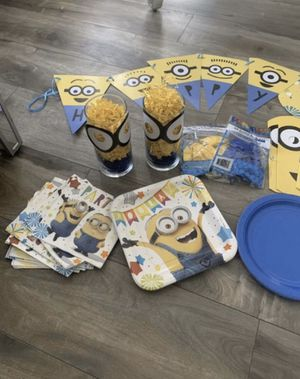 Minion birthday party for Sale in Menifee, CA