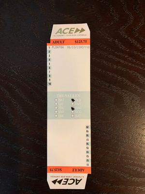ACE train ticket for Sale in Pleasanton, CA