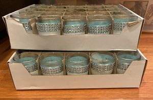Votive Candle Holders Tiffany Blue & Silver for Sale in Pomona, CA
