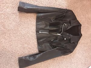 Womens size 16 leather fringe jacket for Sale in Loris, SC