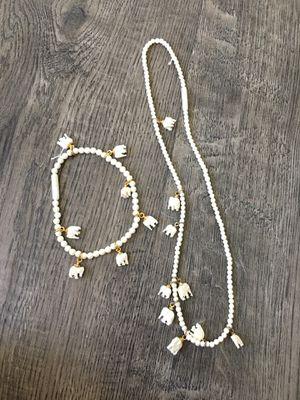 Elephant Necklace & Bracelet for Sale in Escondido, CA