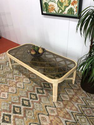 Lane Venture Florida Beach Style Bamboo Glass Top Coffee Table for Sale in Boynton Beach, FL