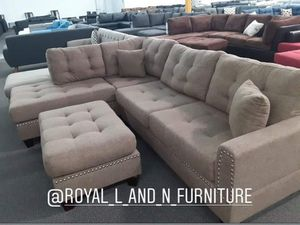 Sectional sofa set with ottoman for Sale in Laguna Hills, CA