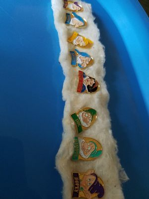 Disney collect Pins of Snow White & the 7 Drawfs! for Sale in Marietta, GA