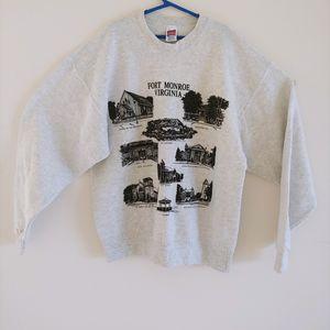 Fort Monroe Virginia Pullover Sweater Light Gray Medium, Vintage - USA for Sale in Hollywood, FL