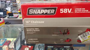 """Snapper 58v lithium 16"""" chainsaw. New in box! for Sale in Parkland, WA"""