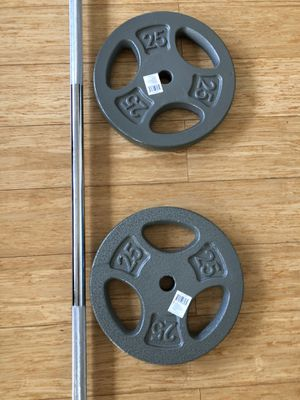 """5F Barbell 2x25 pounds weights plates 1"""" Hole for Sale in Biscayne Park, FL"""