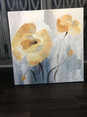Canvas Art Yellows and Grays Almost New for Sale in Columbia, MO
