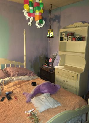 Vintage7 piece canopy full size bedroom set made by lei have paperwork for when purchased for Sale in Snellville, GA