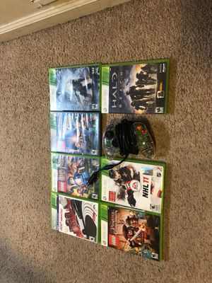 7 Xbox 360 games with working controller for Sale in Athens, TX