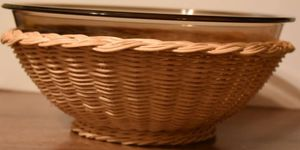 Pyrex Fireside Naturals Serving Bowl with rattan Basket for Sale in Memphis, TN