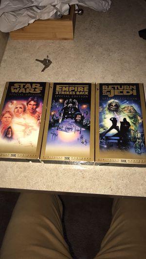 Star Wars original trilogy in VHS for Sale in Lakeland, FL