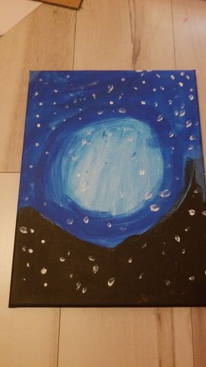 The painting sars in the moon for Sale in Weston, FL