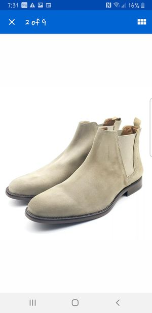 Aldo Vianello-r Mens Light Beige Leather Suede Chelsea Ankle Boots for Sale in Whittier, CA