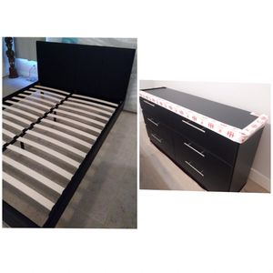 New queen bed frame and dresser mattress is not included for Sale in Lake Worth, FL
