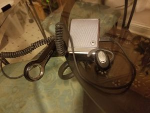 Bluetooth headset and universal car kit speaker for Sale in Chapel Hill, NC