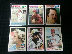 1977-95 Topps Baseball Cards, 200 Total Cards for Sale in Greensburg, PA