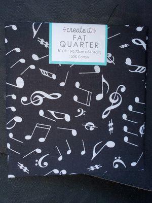 Black music note cotton fabric for Sale in Dixon, MO