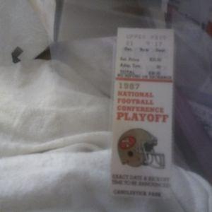 $8 1987 SF 49ers Nfc Playoff Ticket Near Mint for Sale in Santa Clara, CA